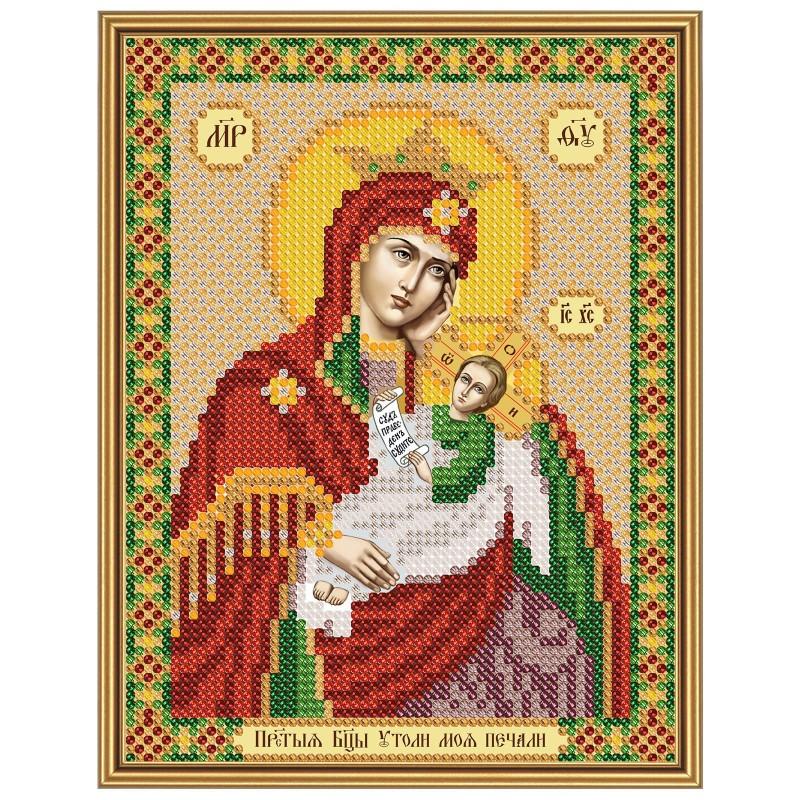 """Nova Sloboda - Тканина зi схемою для вишивки ікони бiсером """"Христос Спаситель"""" / фото №2878"""