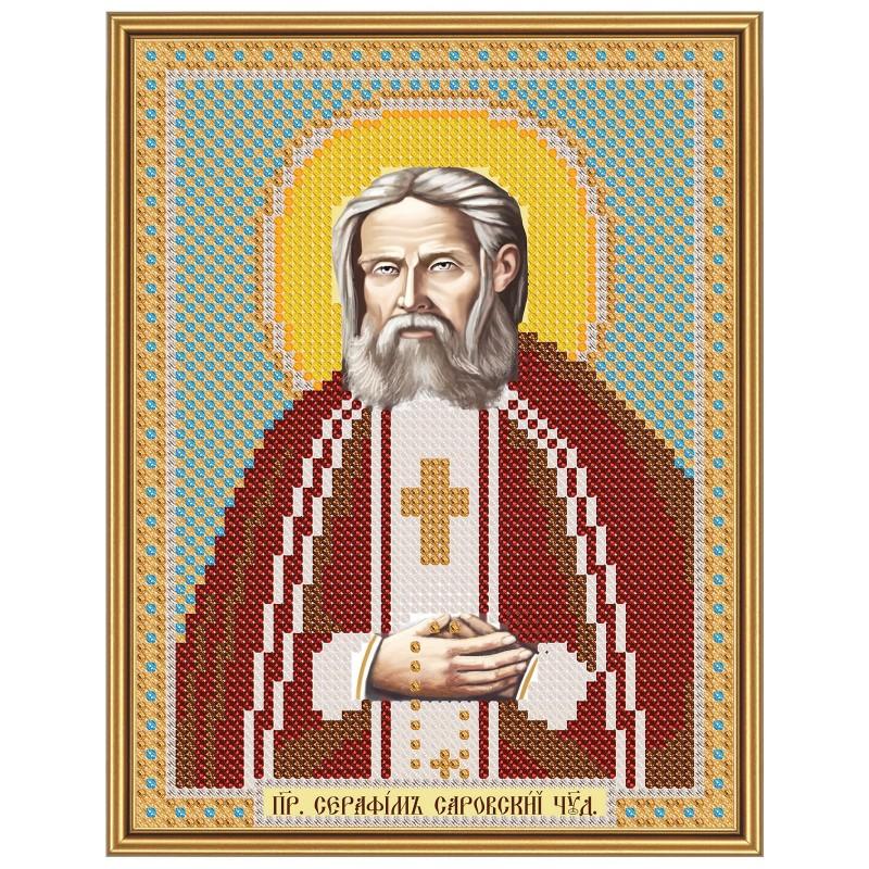 """Nova Sloboda - Тканина зi схемою для вишивки ікони бiсером """"Христос Спаситель"""" / фото №2894"""