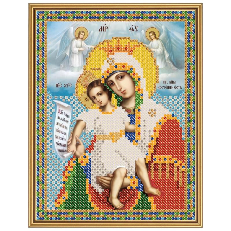 """Nova Sloboda - Ткань со схемой для вышивки иконы бисером """"Христос Спаситель"""" / фото №2895"""