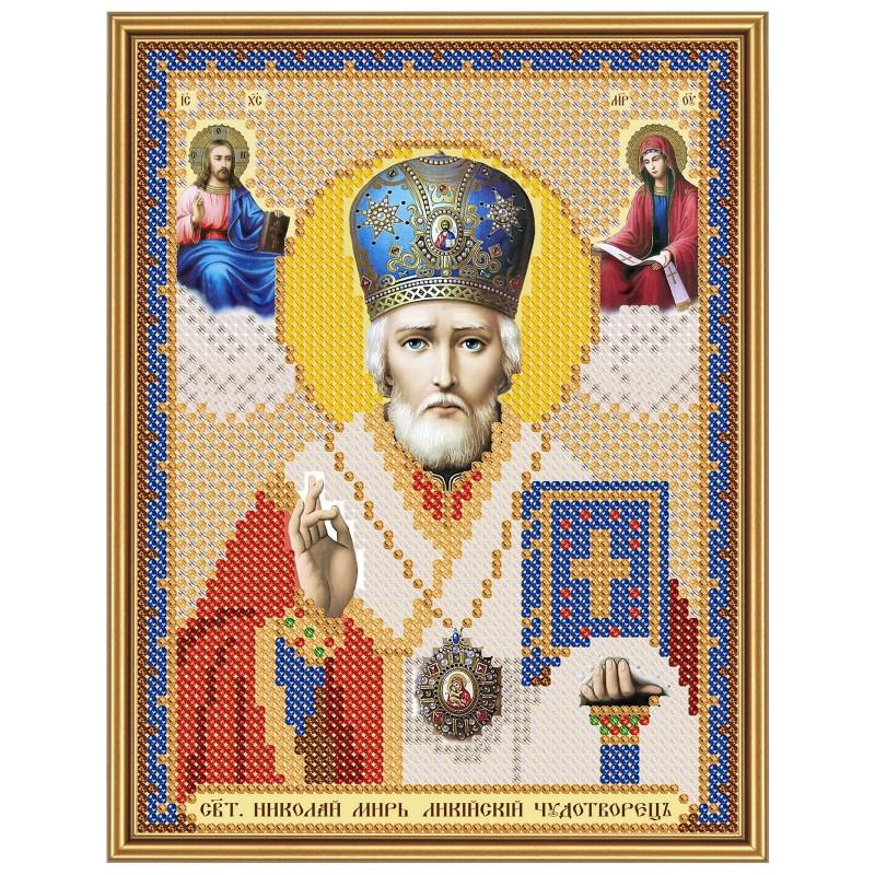 """Nova Sloboda - Ткань со схемой для вышивки иконы бисером """"Христос Спаситель"""" / фото №2900"""