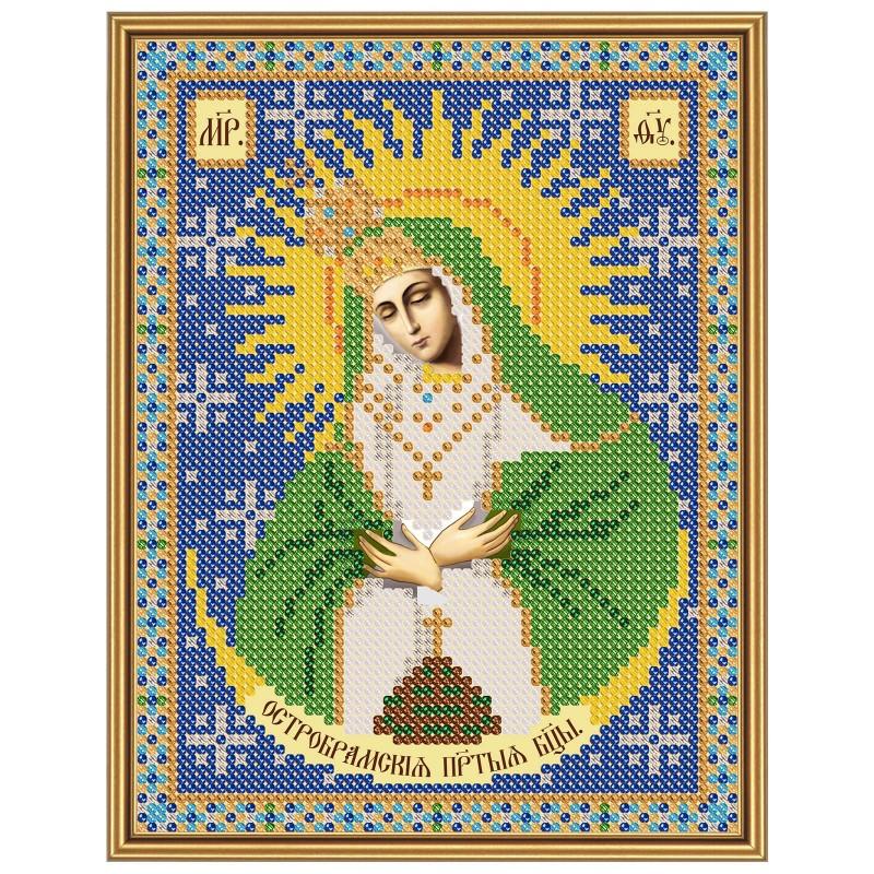 """Nova Sloboda - Тканина зi схемою для вишивки ікони бiсером """"Христос Спаситель"""" / фото №2906"""