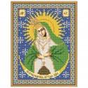 """Тканина зi схемою для вишивки ікони бiсером """"Богородиця Остробрамська"""""""