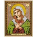 """Тканина зi схемою для вишивки ікони бiсером """"Богородиця «Розчулення»"""""""
