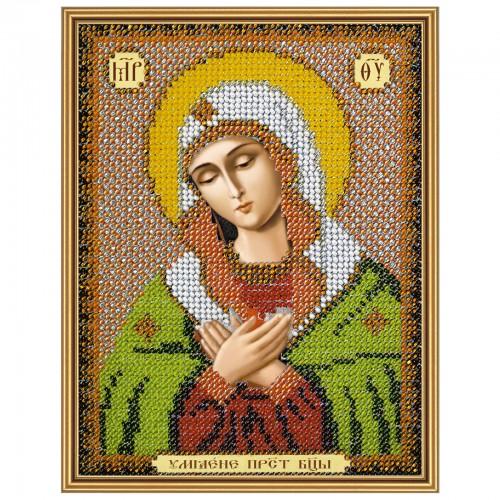 """Ткань со схемой для вышивки иконы бисером """"Богородица «Умиление»"""""""