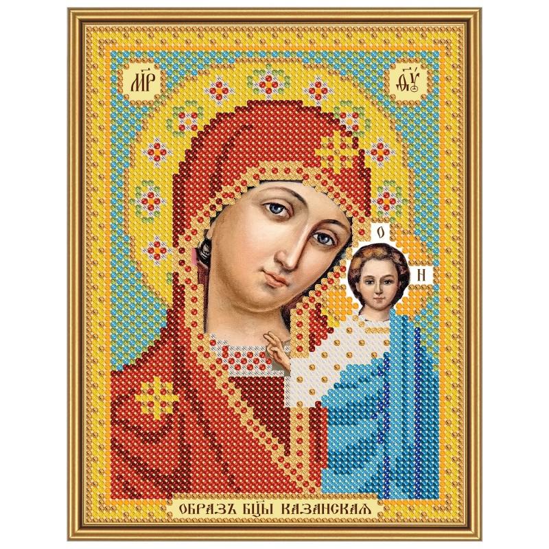 """Nova Sloboda - Тканина зi схемою для вишивки ікони бiсером """"Христос Спаситель"""" / фото №2918"""