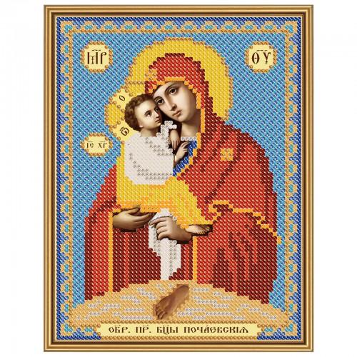 """Тканина зi схемою для вишивки ікони бiсером """"Богородиця Почаївська"""""""