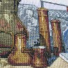 """Набір для вишивки нитками на канві з фоновим зображенням """"Кава по-східному"""""""