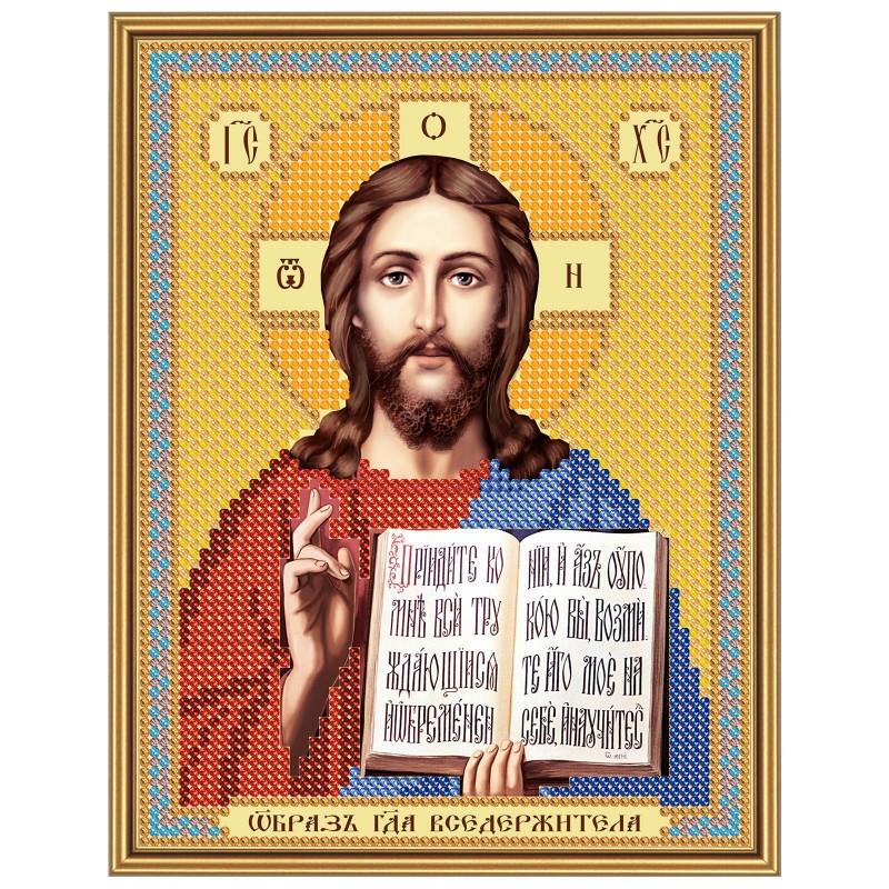 """Nova Sloboda - Тканина зi схемою для вишивки ікони бiсером """"Христос Спаситель"""" / фото №2930"""