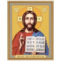 """Тканина зi схемою для вишивки ікони бiсером """"Христос Спаситель"""""""