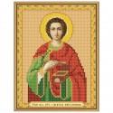 """Тканина зi схемою для вишивки ікони бiсером """"Св. Вмч. Цілитель Пантелеймон"""""""