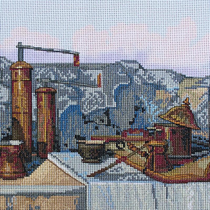 """Nova Sloboda - Набір для вишивки нитками на канві з фоновим зображенням """"Кава по-східному"""" / фото №294"""