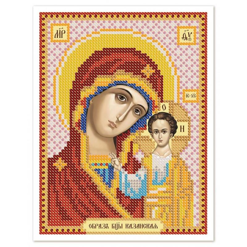 """Nova Sloboda - Тканина зi схемою для вишивки ікони бiсером """"Христос Спаситель"""" / фото №2949"""