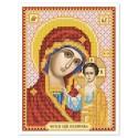 """Тканина зi схемою для вишивки ікони бiсером """"Богородица Смоленская"""""""