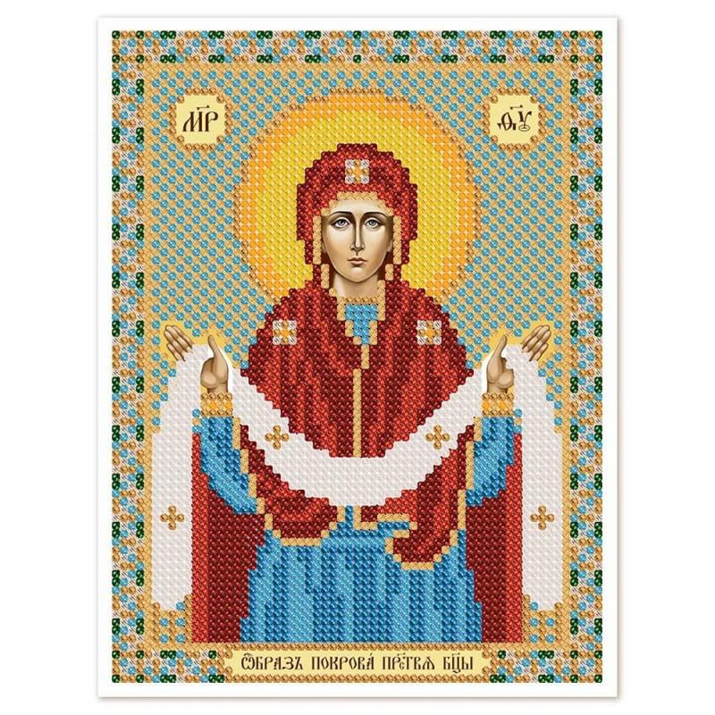 """Nova Sloboda - Тканина зi схемою для вишивки ікони бiсером """"Христос Спаситель"""" / фото №2950"""