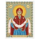 """Тканина зi схемою для вишивки ікони бiсером """"Покров Пресвятої Богородиці"""""""