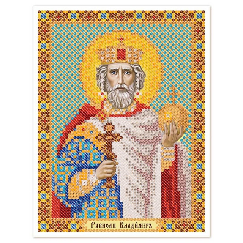 """Nova Sloboda - Тканина зi схемою для вишивки ікони бiсером """"Христос Спаситель"""" / фото №2951"""