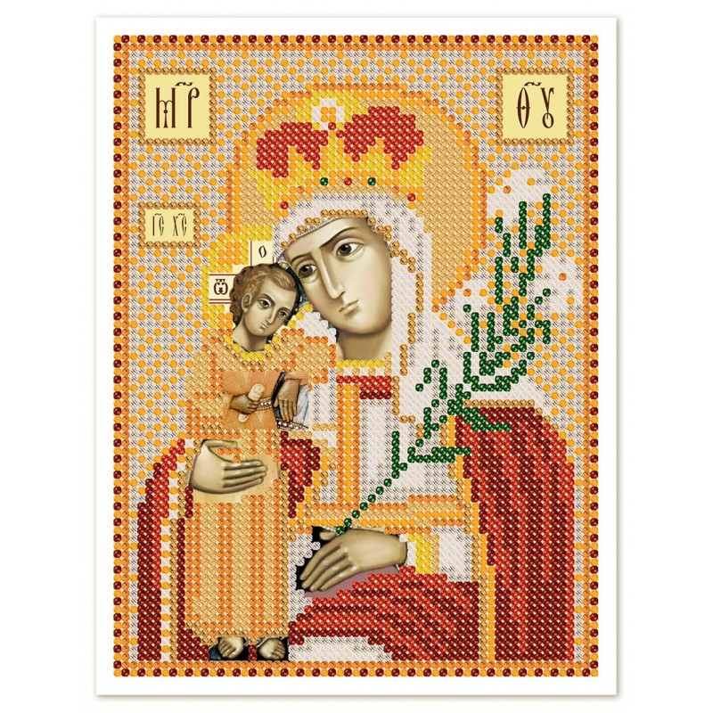 """Nova Sloboda - Ткань со схемой для вышивки иконы бисером """"Христос Спаситель"""" / фото №2958"""