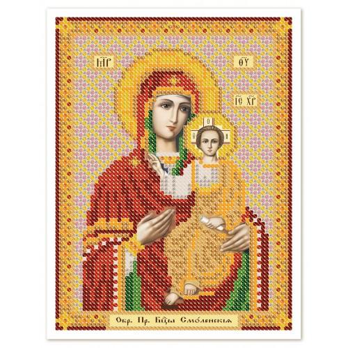"""Ткань со схемой для вышивки иконы бисером """"Богородица Смоленская"""""""