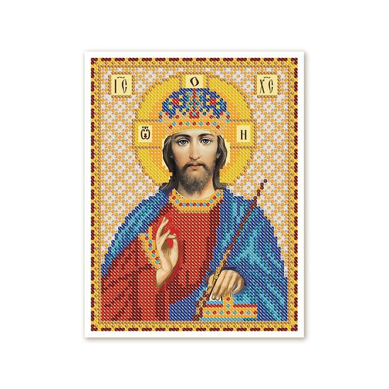 """Nova Sloboda - Тканина зi схемою для вишивки ікони бiсером """"Христос Спаситель"""" / фото №2978"""
