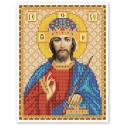 """Тканина зi схемою для вишивки ікони бiсером """"Христос Спаситель"""""""""""
