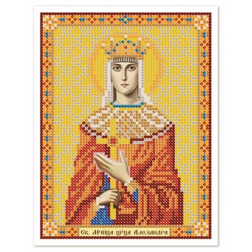 """Тканина зi схемою для вишивки ікони бiсером """"Св. Мц. Цариця Олександра Римська"""""""
