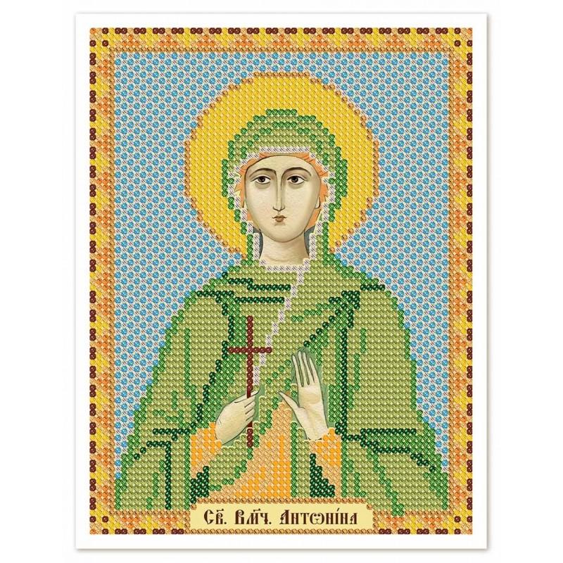 """Nova Sloboda - Тканина зi схемою для вишивки ікони бiсером """"Христос Спаситель"""" / фото №2986"""