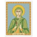 """Тканина зi схемою для вишивки ікони бiсером """"Св. Мц. Антоніна"""""""