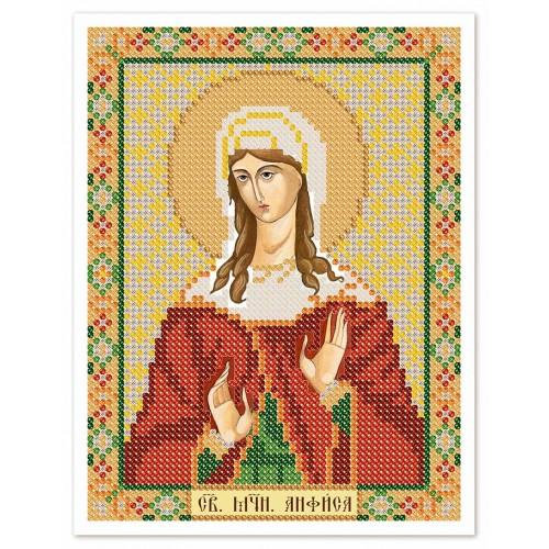 """Тканина зi схемою для вишивки ікони бiсером """"Св. Мц. Анфіса Римська"""""""