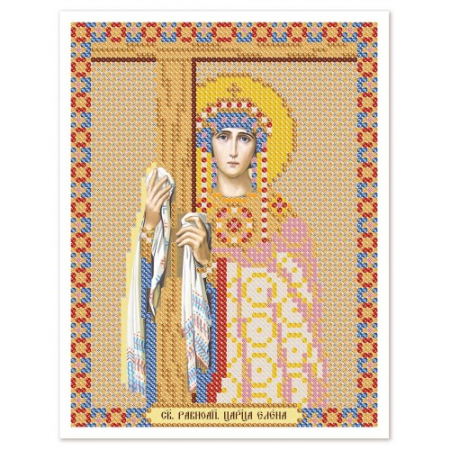 """Тканина зi схемою для вишивки ікони бiсером """"Св. Рівноап. Цариця Олена"""""""