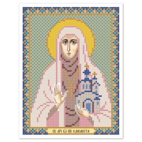 """Ткань со схемой для вышивки иконы бисером """"Св. Прмц. Елизавета Алапаевская"""""""