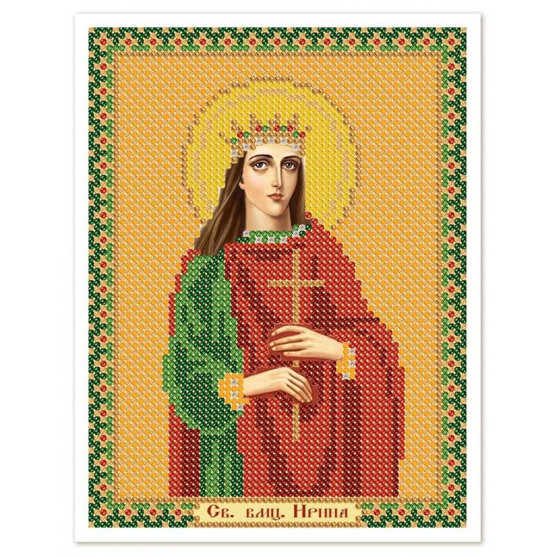 """Nova Sloboda - Ткань со схемой для вышивки иконы бисером """"Христос Спаситель"""" / фото №3015"""