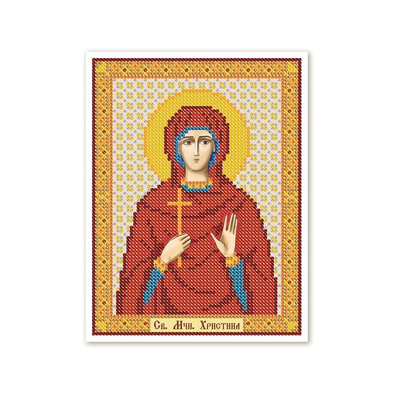"""Nova Sloboda - Тканина зi схемою для вишивки ікони бiсером """"Христос Спаситель"""" / фото №3028"""