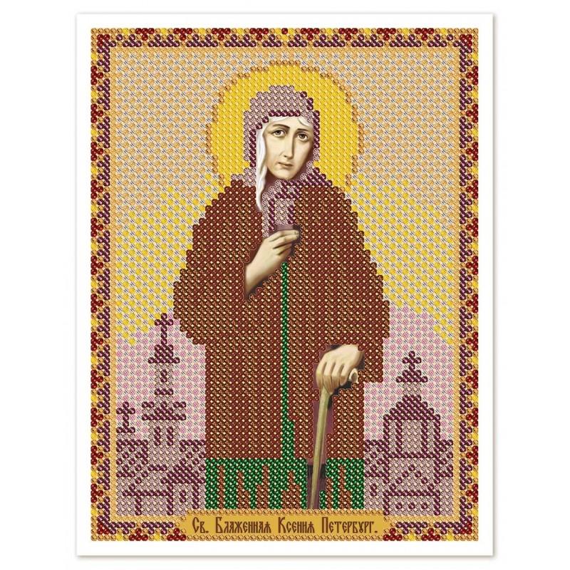 """Nova Sloboda - Ткань со схемой для вышивки иконы бисером """"Христос Спаситель"""" / фото №3029"""