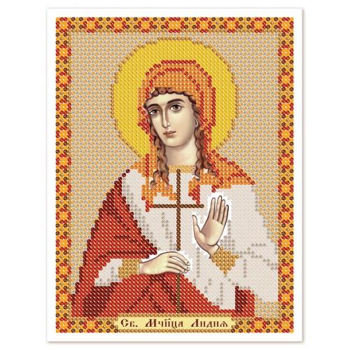 """Тканина зi схемою для вишивки ікони бiсером """"Св. Мц. Лідія Илірійська"""""""