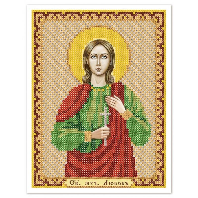 """Nova Sloboda - Тканина зi схемою для вишивки ікони бiсером """"Христос Спаситель"""" / фото №3032"""