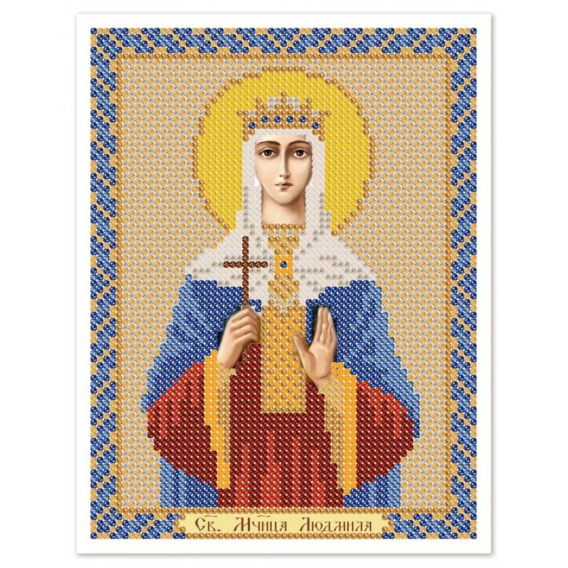 """Nova Sloboda - Ткань со схемой для вышивки иконы бисером """"Христос Спаситель"""" / фото №3033"""