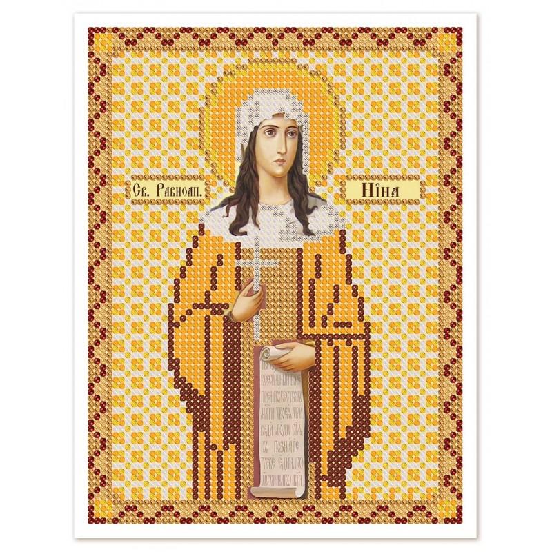 """Nova Sloboda - Ткань со схемой для вышивки иконы бисером """"Христос Спаситель"""" / фото №3056"""
