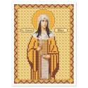 """Ткань со схемой для вышивки иконы бисером """"Св. Равноап. Нина Просвет. Грузии"""""""