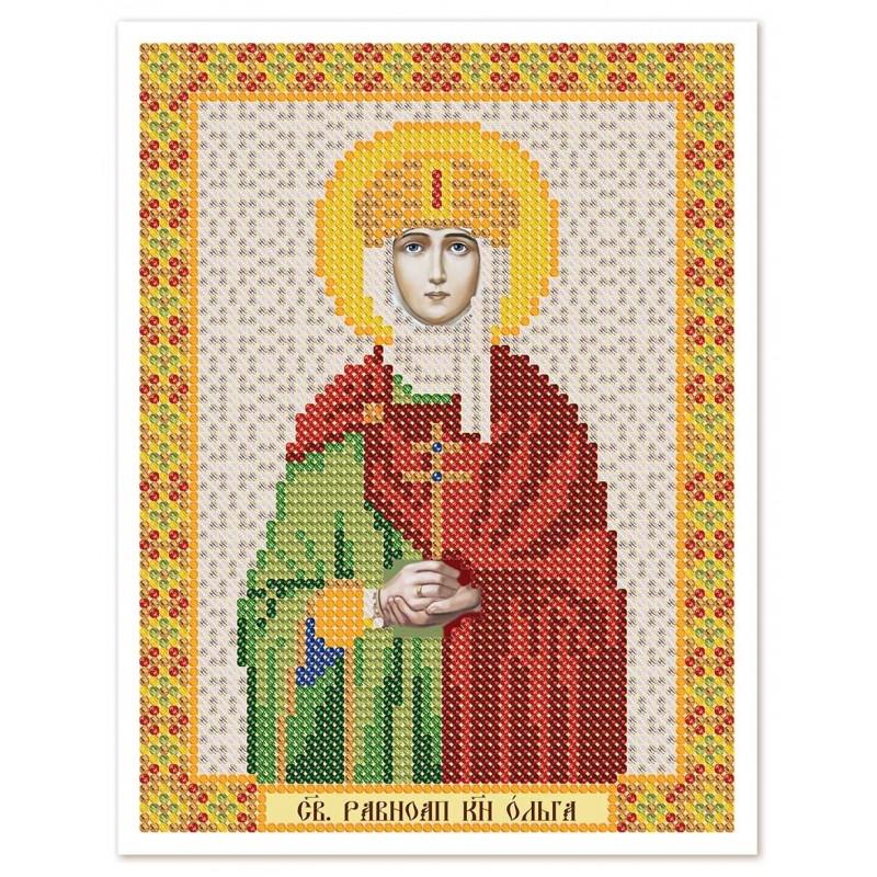 """Ткань со схемой для вышивки иконы бисером """"Христос Спаситель"""""""