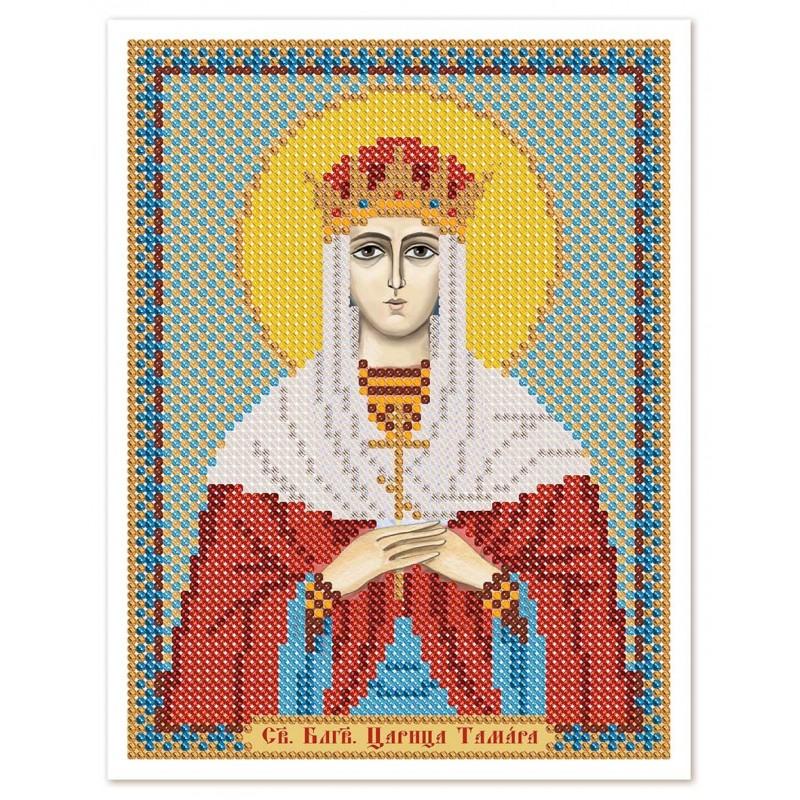 """Nova Sloboda - Ткань со схемой для вышивки иконы бисером """"Христос Спаситель"""" / фото №3063"""