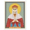 """Ткань со схемой для вышивки иконы бисером """"Св. Блгв. Тамара Царица Грузии"""""""