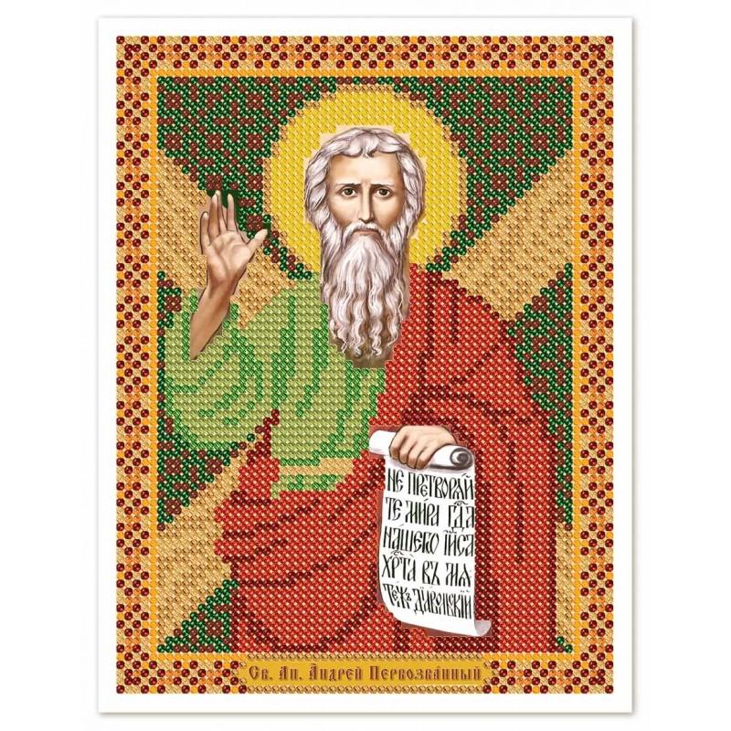 """Nova Sloboda - Тканина зi схемою для вишивки ікони бiсером """"Христос Спаситель"""" / фото №3071"""