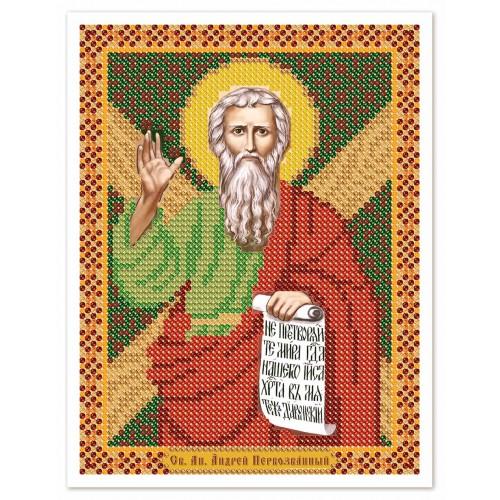 """Ткань со схемой для вышивки иконы бисером """"Св. Ап. Андрей Первозванный"""""""