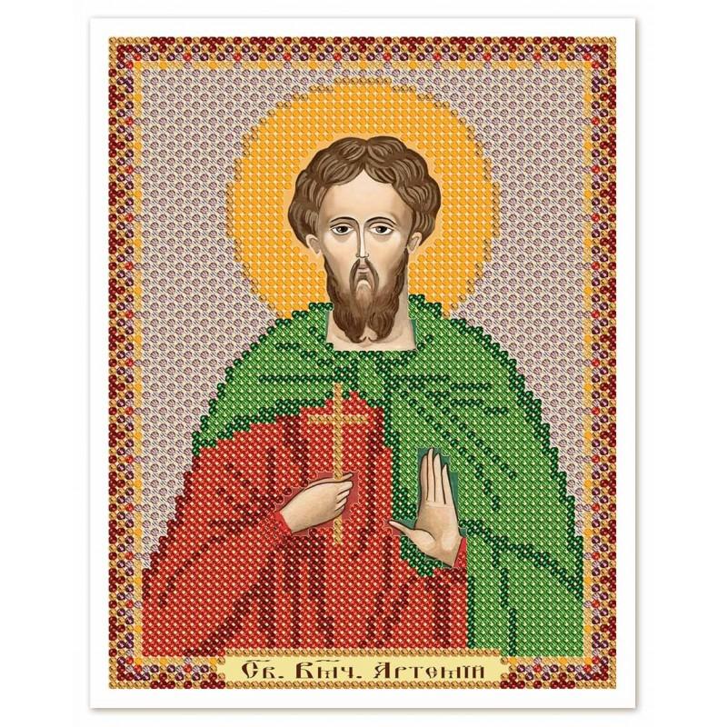 """Nova Sloboda - Тканина зi схемою для вишивки ікони бiсером """"Христос Спаситель"""" / фото №3082"""