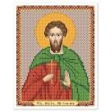 """Тканина зi схемою для вишивки ікони бiсером """"Св. Вмч. Артемій Антіохійський"""""""