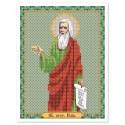 """Тканина зi схемою для вишивки ікони бiсером """"Св. Прор. Ілля (Ілія)"""""""