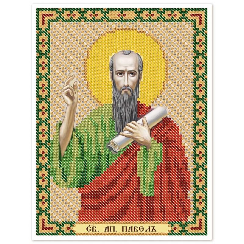 """Nova Sloboda - Ткань со схемой для вышивки иконы бисером """"Христос Спаситель"""" / фото №3112"""