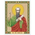 """Ткань со схемой для вышивки иконы бисером """"Св. Ап. Павел"""""""