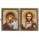 """Набір для вишивки ікони в рамці-складні """"Христос Спаситель і Пресв. Богородиця Казанська"""""""