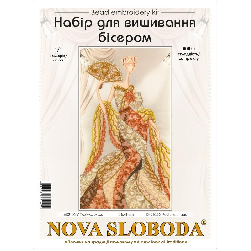 """Nova Sloboda - Набір для вишивки бісером """"Подіум. Образ"""" / фото №3142"""
